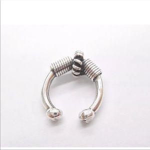 Bohemian Ear Cuff Earring Sterling Silver